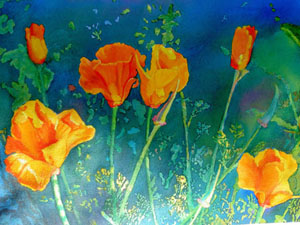 """Spring Gold"" by alumna Marge Barta Atkins will be in the downtown Hayward show."