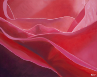 """Abstract Rose,"" by Katherine Tolefsen is among the pieces in the new downtown Hayward exhibit."