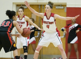 Photo of CSUEB women's basketball player Cassie Coble.