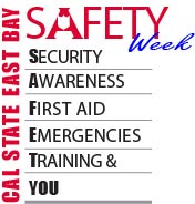 Logo for CSUEB campus safety week 2013