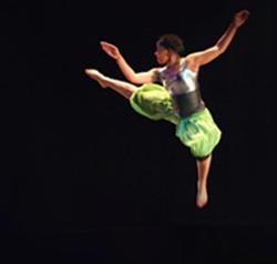 Dance major Joslynn Mathis-Reed in a scene from an earlier show.