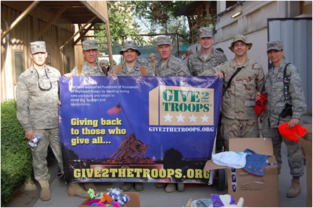 Give2TheTroops has delivered care packages and letters to over 1 million deployed U.S. troops. (Image: give2thetroops.org)