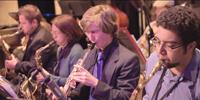 Jazz students Christopher Almada (left), Mari Hayashi, Alex Attard, and Antonio Juarez were successful at weekend festival.