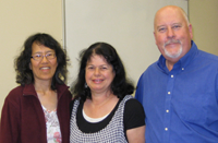 Alumni in performance are, from left, Veronica Fong, Patsy Littier Ledbetter, and Kevin Ledbetter.