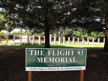 Image of the Flight 93 Memorial in Union City which was established by CSUEB economics grad Michael Emerson