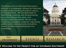 'Project for an Informed Electorate' prepares voters for election.