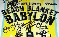 A signed Beach Blanket Babylon poster,