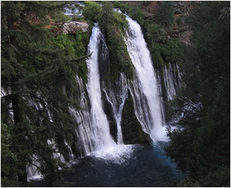 Burney Falls, California's most voluminous waterfall (Image: uvm.edu)