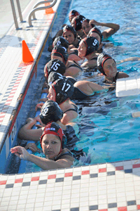 Pioneer women's water polo team