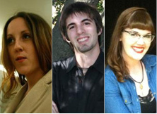 From left to right, Janet Burns, Christopher Morgan, and Samantha Kennedy