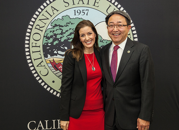 Oakland Mayor Libby Schaaf and CSUEB President Leroy M. Morishita