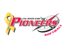 Cal State East Bay softball support the troops logo