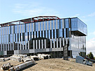 Construction continues on the Student Services Administration building on the Hayward Campus of California State University, East Bay.