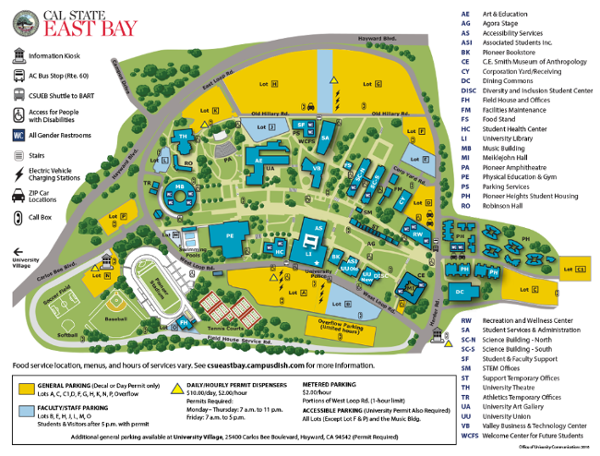 Csu East Bay Map Welcome Day 2018 Csu East Bay Map